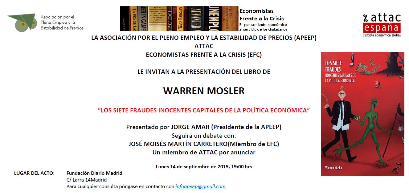 Presentación del libro de Mosler