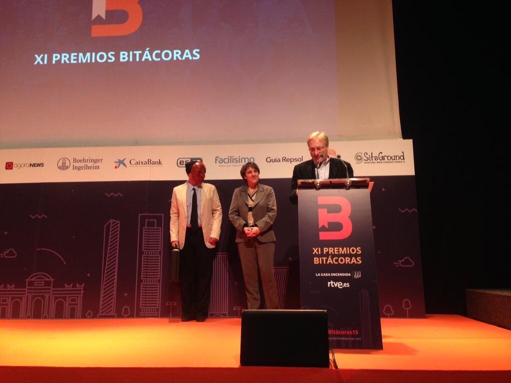 Bartolomé recoge el premio Bitácoras por EFC